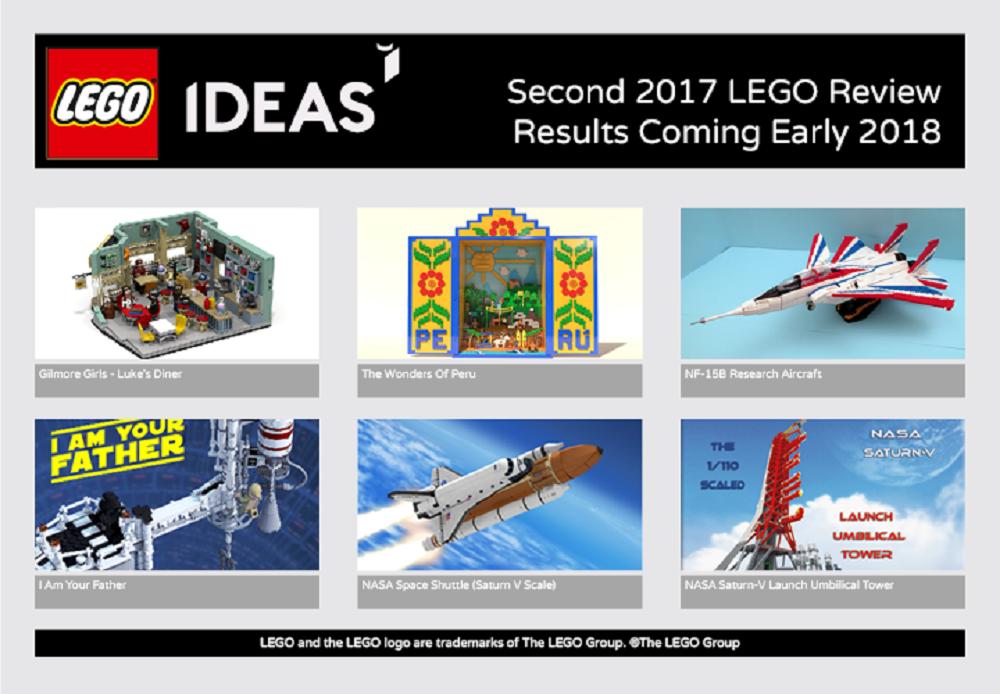 Ecco i 6 progetti LEGO Ideas qualificati per la seconda review 2017