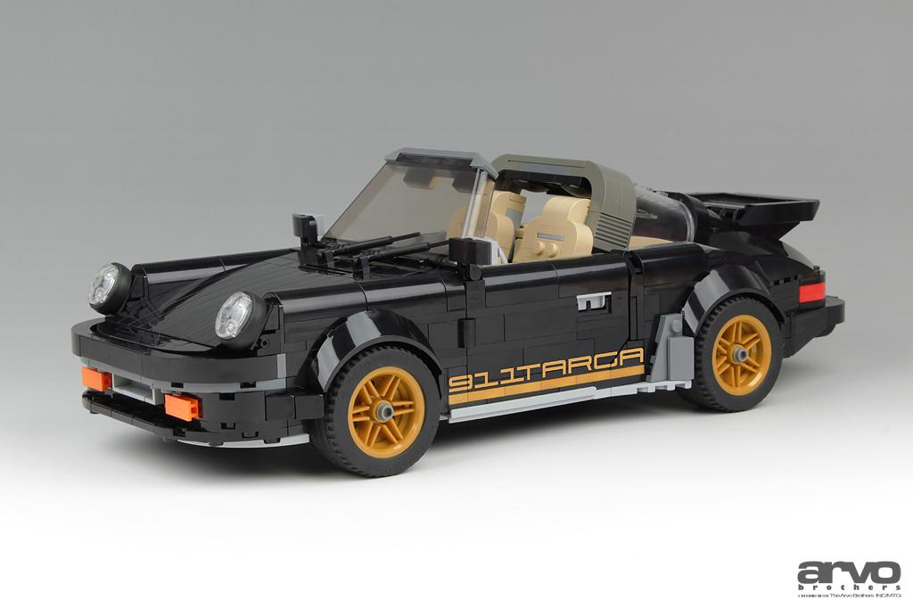 La Porsche 911 Targa LEGO degli Arvo Brothers in versione Black and Gold