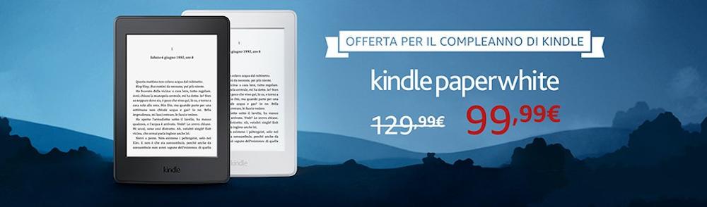 Buon compleanno Kindle: Paperwhite in sconto solo oggi