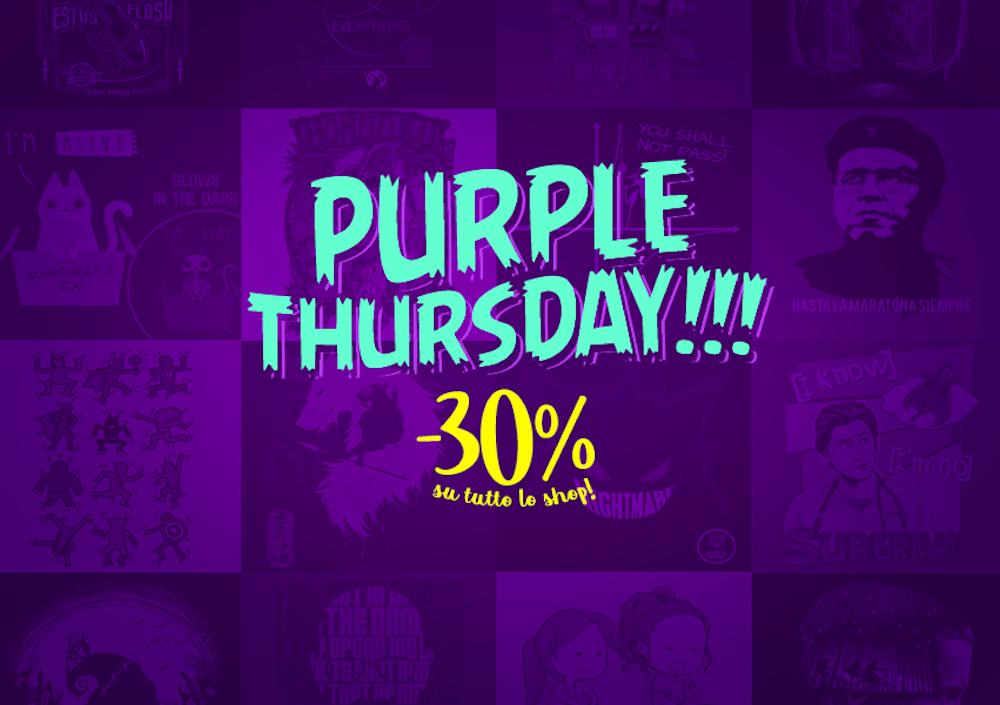 Purple Thursday su Tee Tee: tutte le magliette col 30% di sconto