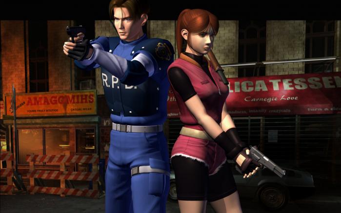 RE2 Leon e Claire