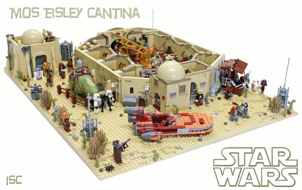 La cantina e lo spazioporto di Mos Eisley in LEGO