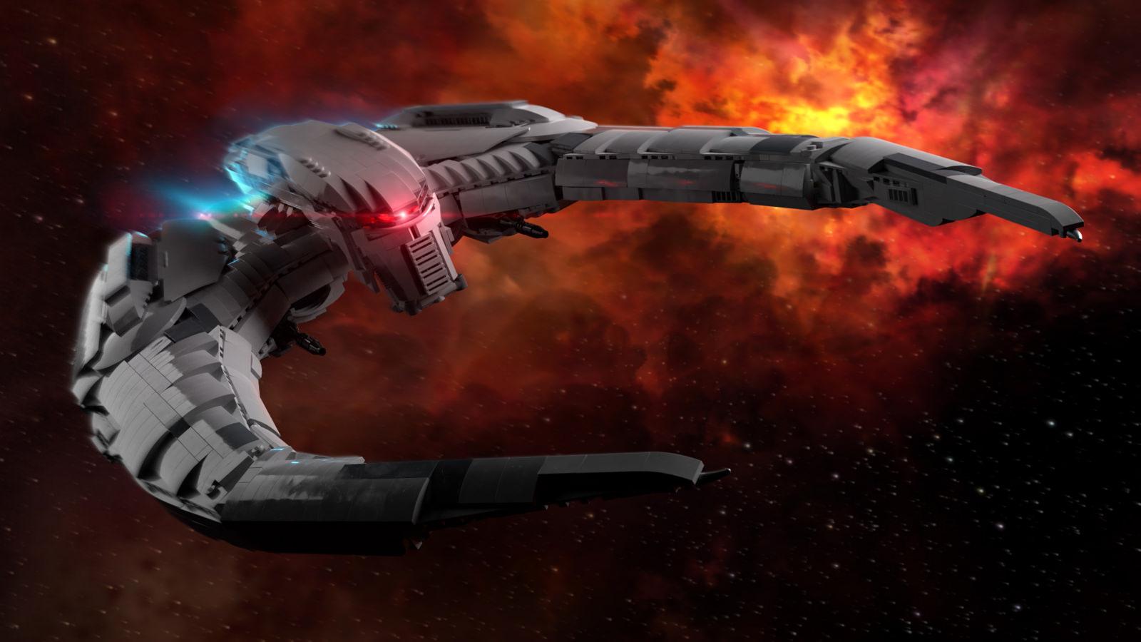 Il Cylon Raider di Battlestar Galactica in formato LEGO UCS