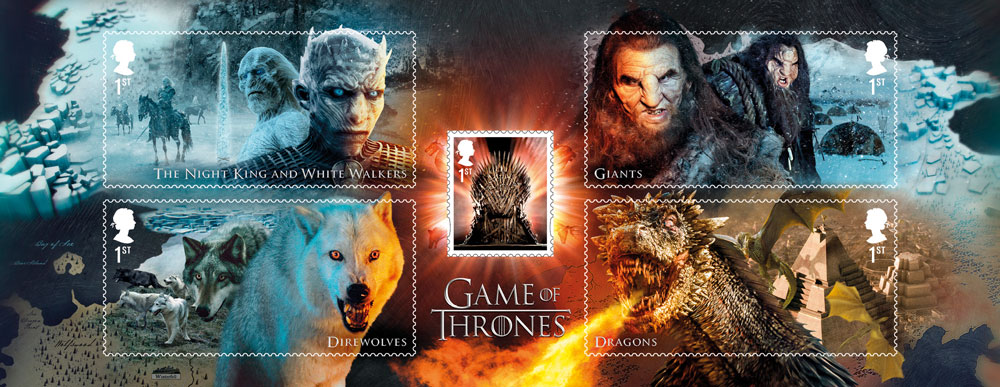 Royal Mail: preordinabili i francobolli commemorativi di Game Of Thrones