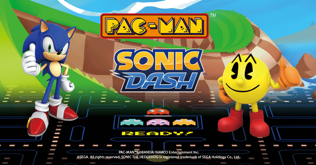 Pac-Man e Sonic insieme per la prima volta su mobile