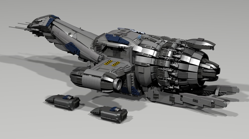 Il vascello di classe Firefly dell'omonima serie tv in versione LEGO