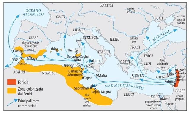 Cartina Geografica Dei Fenici.Fenici E Cretesi