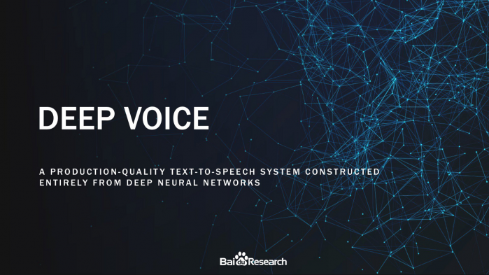 Deep Voice di Baidu