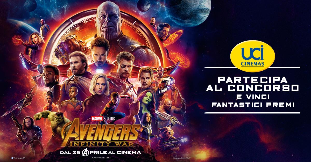 Vinci con UCI Cinemas e Avengers Infinity War