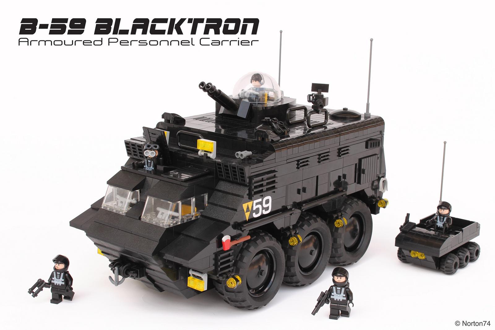 Il carro Blacktron LEGO tratto dalla serie Joe 90 di Norton74
