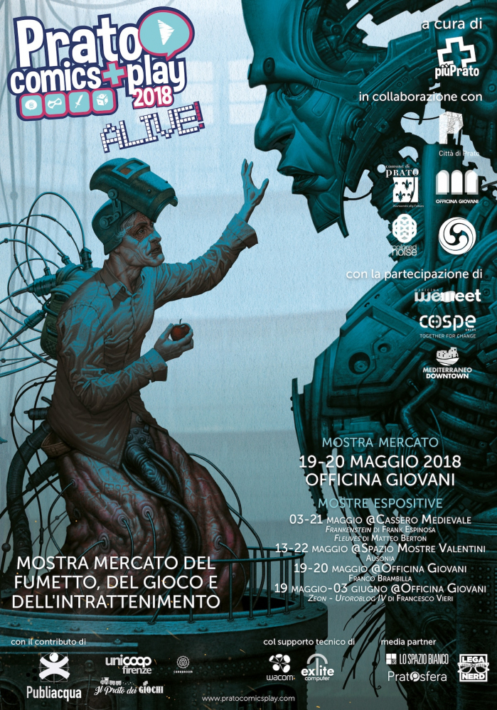 Prato Comics + Play la fiera del gaming e del fumetto a Prato il 19 e 20 maggio