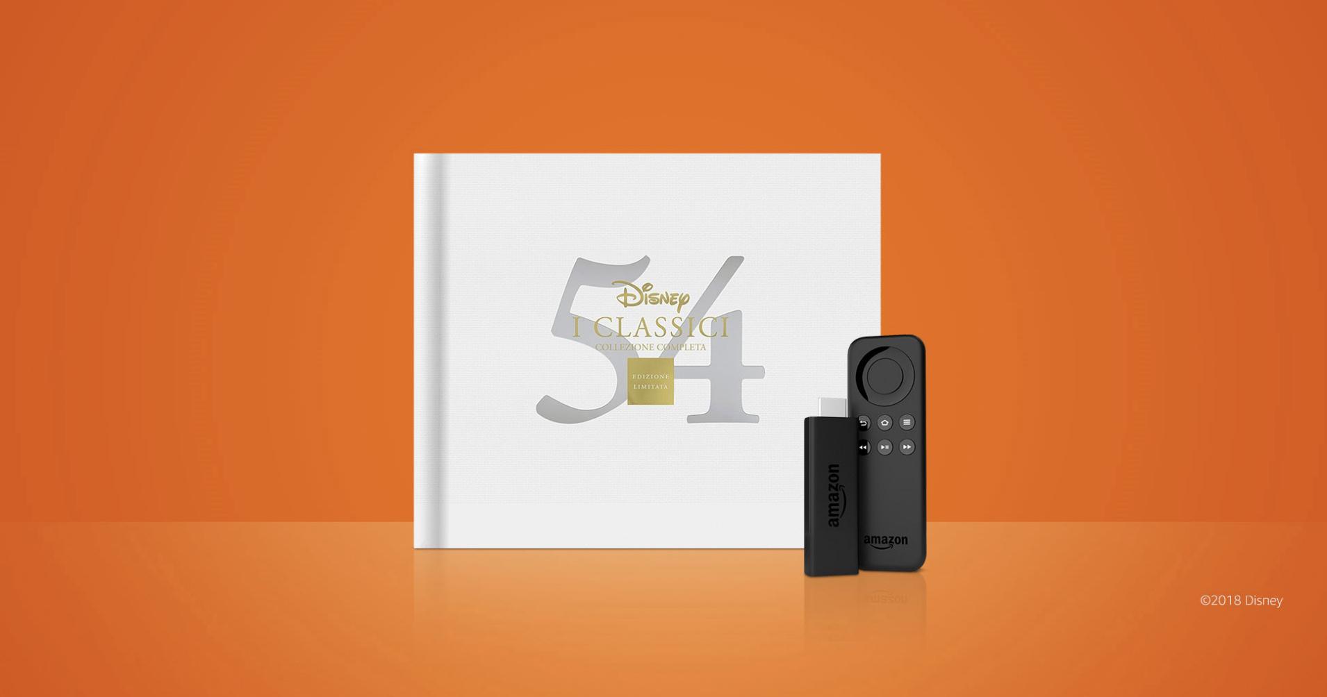 Amazon Fire TV Stick in omaggio con il Cofanetto 54 Classici Disney