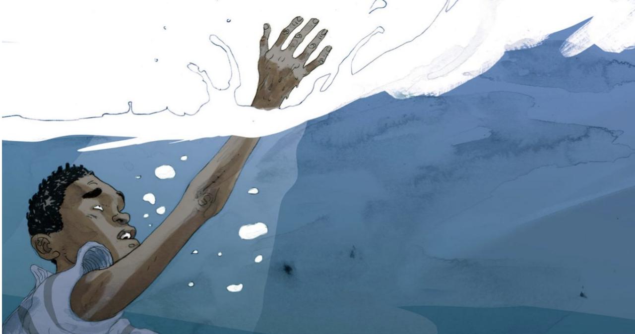 Salvezza: in una graphic novel il racconto dei migranti nel Mediterraneo