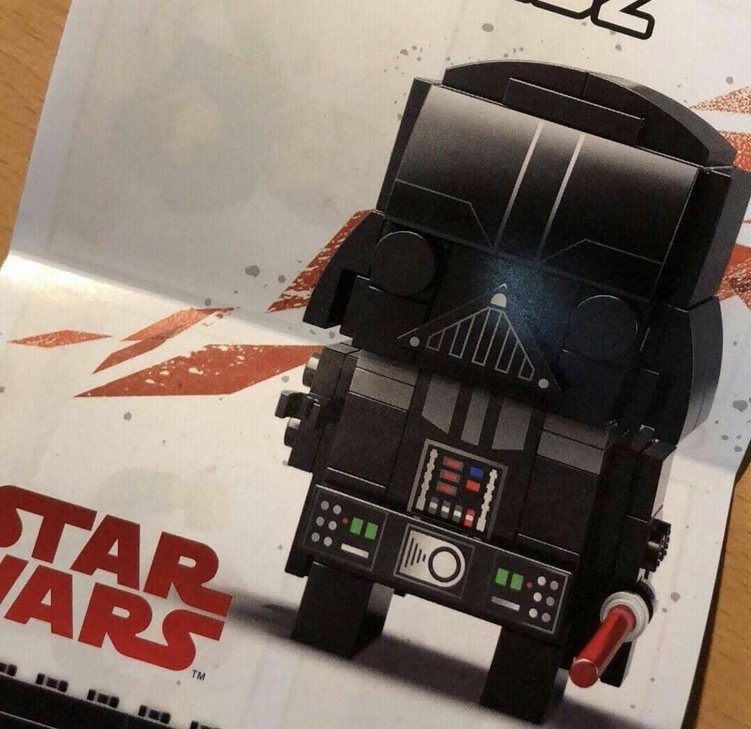 Prima immagine del Brickheadz LEGO di Darth Vader