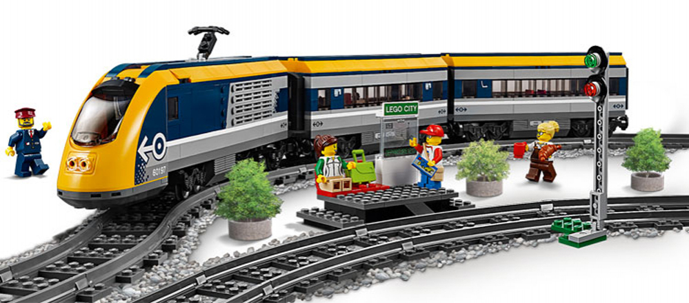 TRENO PASSEGGERI LEGO CITY TRENI 60197