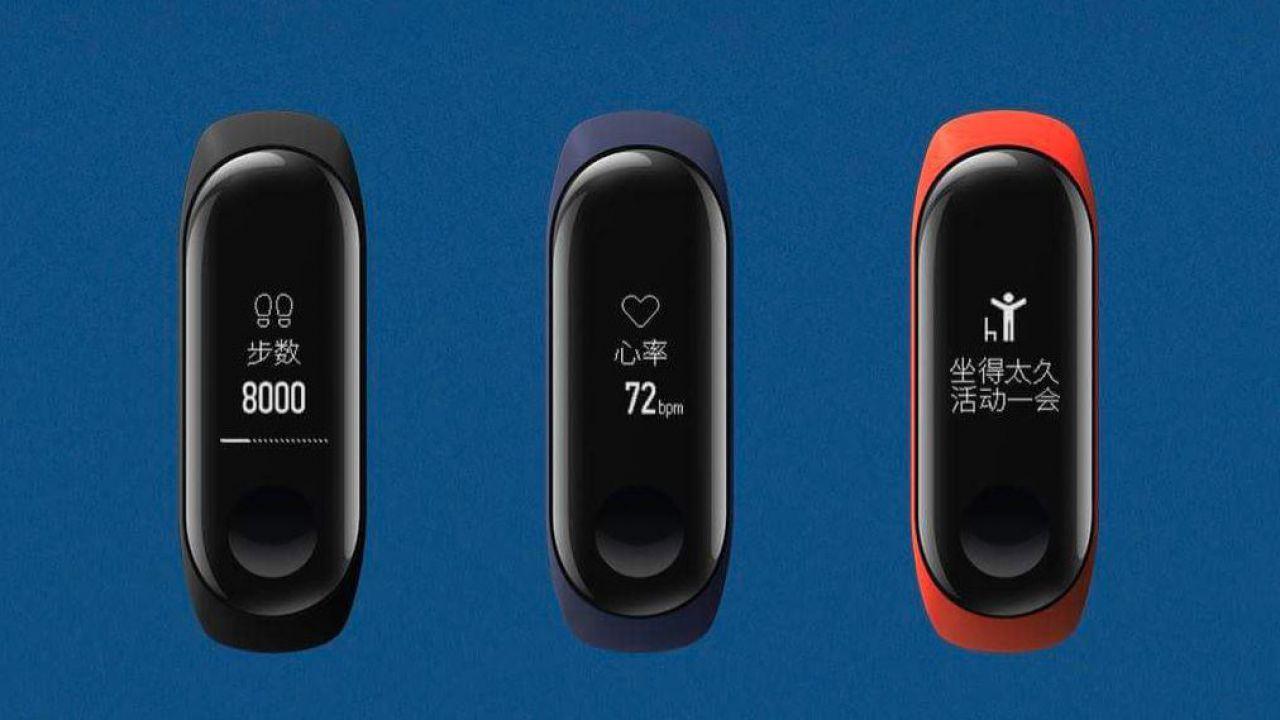 Xiaomi Mi Band 3 ufficiale! Schermo OLED touch e 20 giorni di autonomia