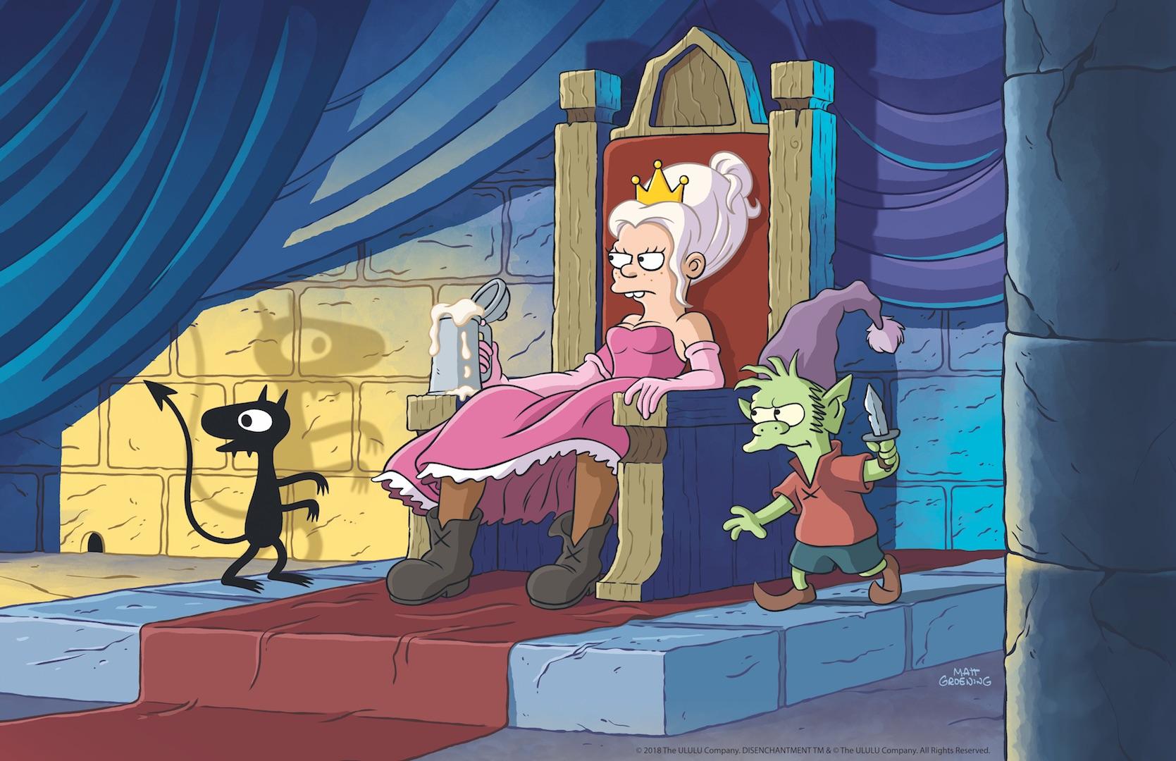 Disincanto: il teaser trailer della nuova serie d'animazione di Matt Groening