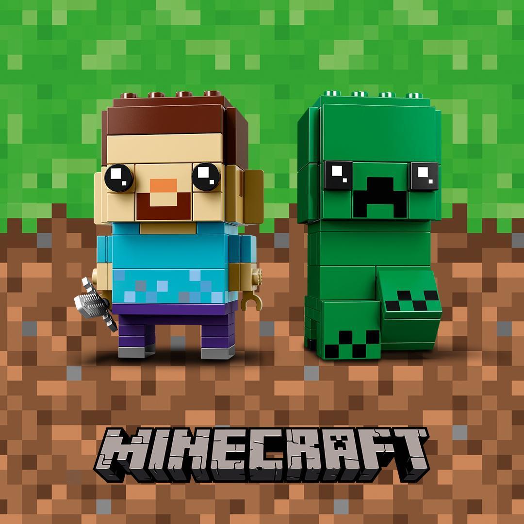 Prima immagine del dualpack LEGO Minecraft Brickheadz