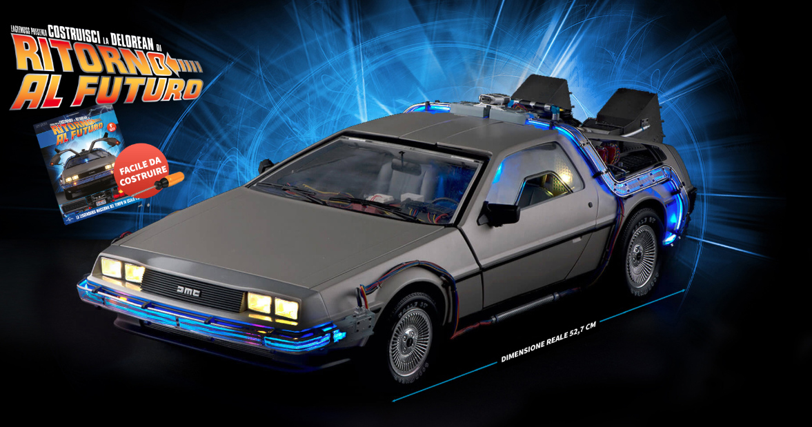 DeLorean DMC-12: nuovo modello Die-Cast in scala 1:8 di Eagle Moss