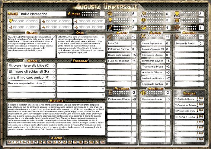 Scheda Thulile - Augusta Universalis