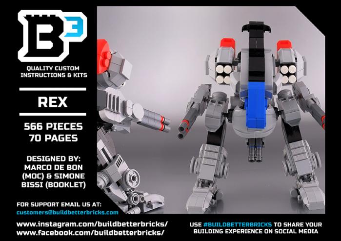 Disponibili all'acquisto le istruzioni LEGO del mecha Rex di