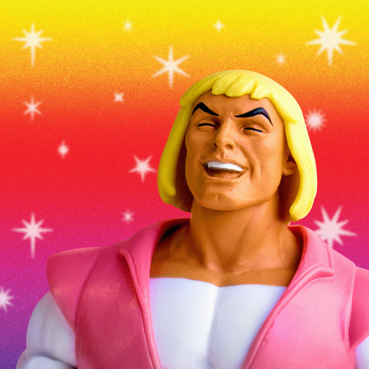 Super 7: Masters of the Universe Classics Laughing Prince Adam SDCC 2018 Exclusive