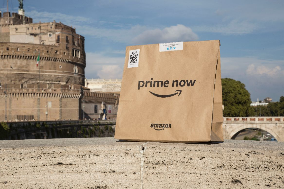 Amazon Prime Now arriva anche a Roma