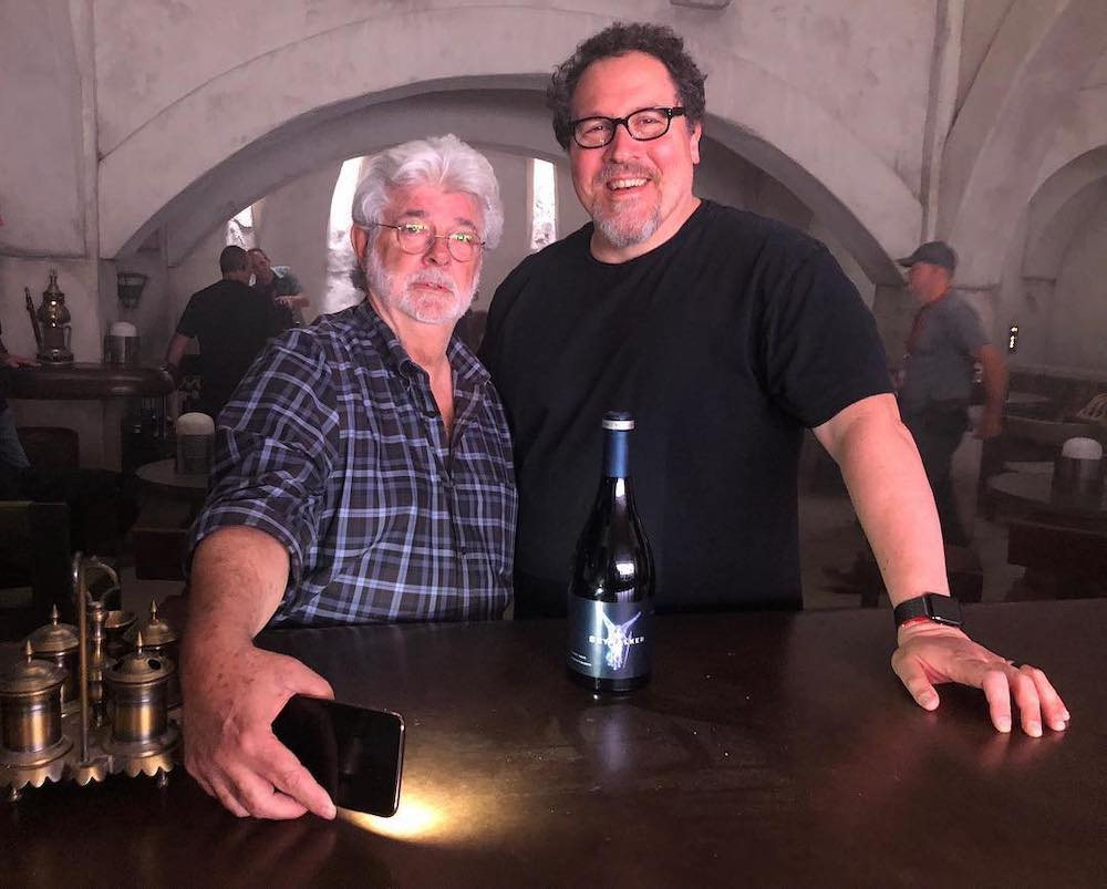 George Lucas in visita sul set di The Mandalorian