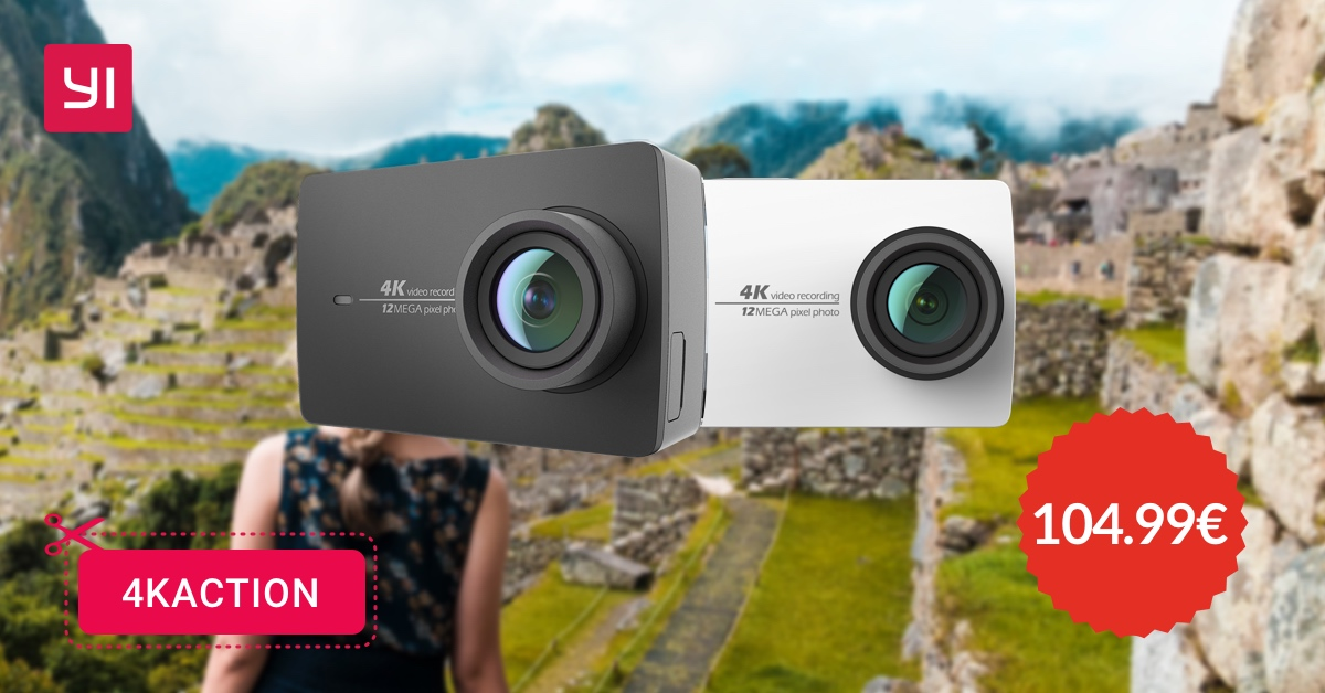 Yi 4K Action Camera oggi su Amazon a 104,99€ con il codice coupon