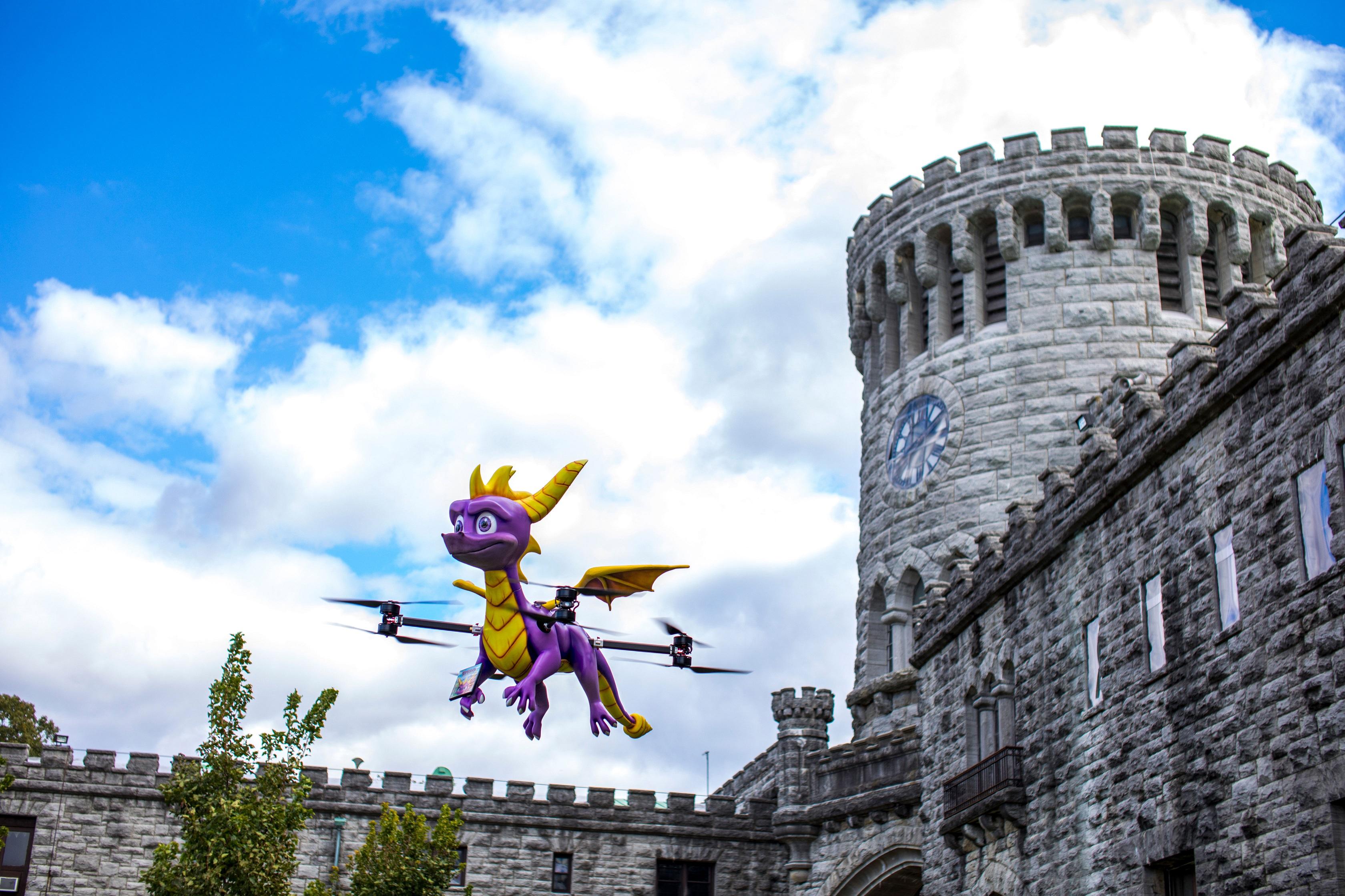 Un drone di Spyro svolazza nei cieli statunitensi