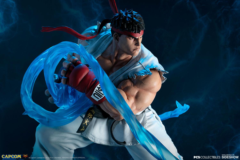 Ryu + Evil Ryu Statue - by Pop Culture Shock