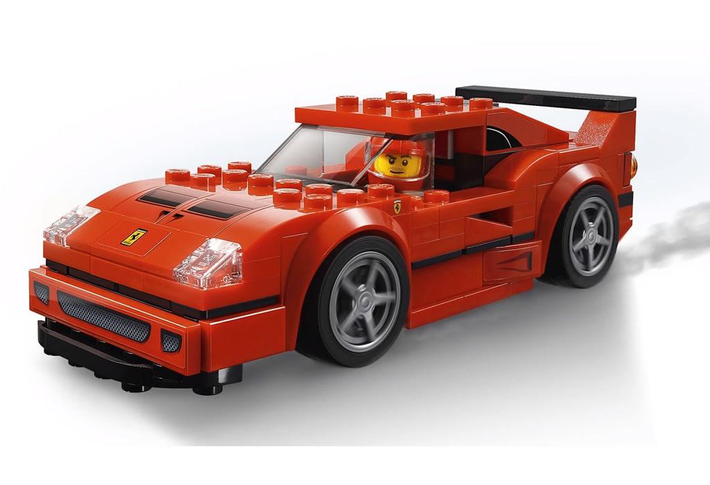 Immagini della Ferrari F40 Competizione LEGO Speed Champions