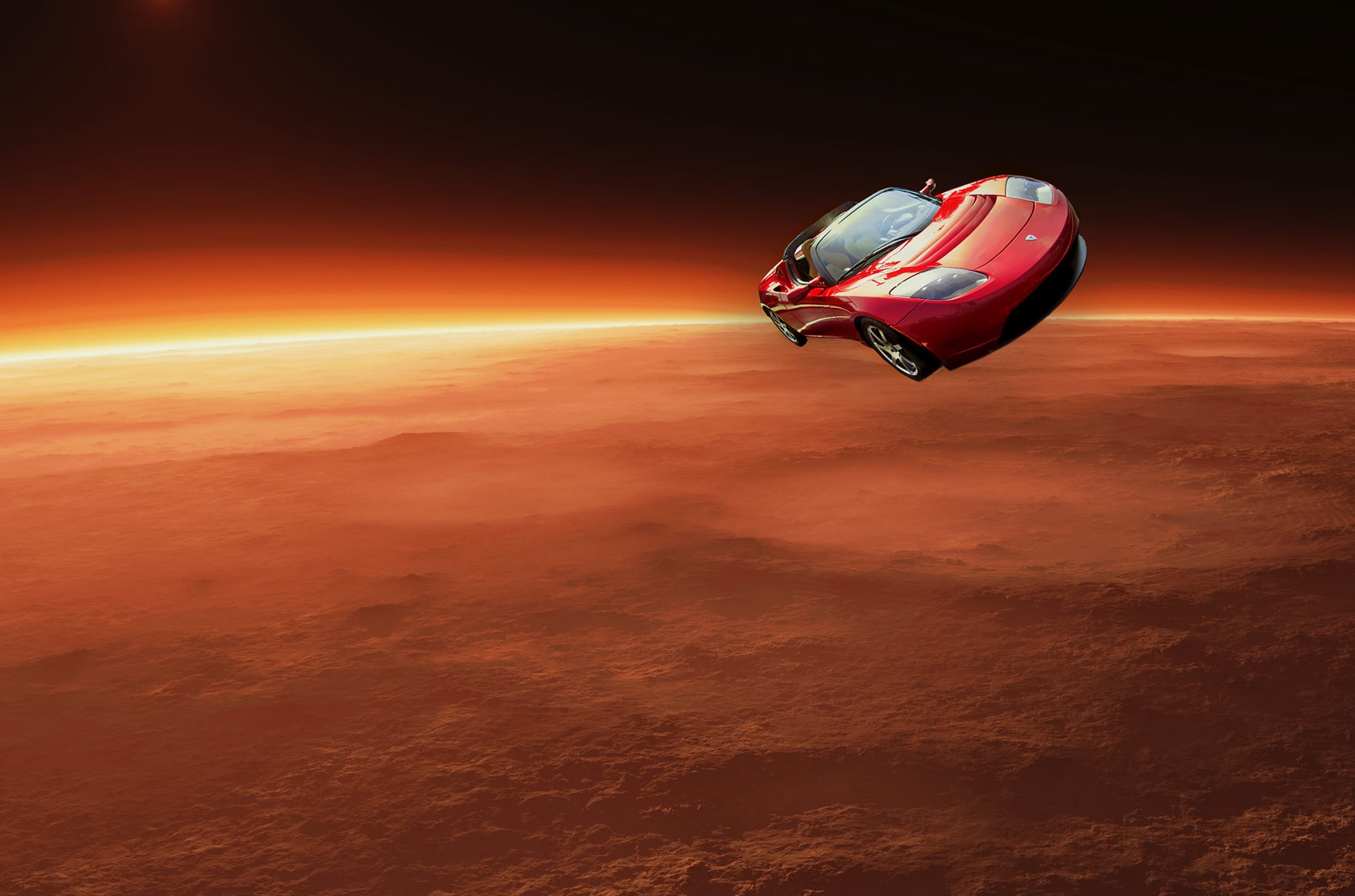 La Tesla di SpaceX ha superato Marte