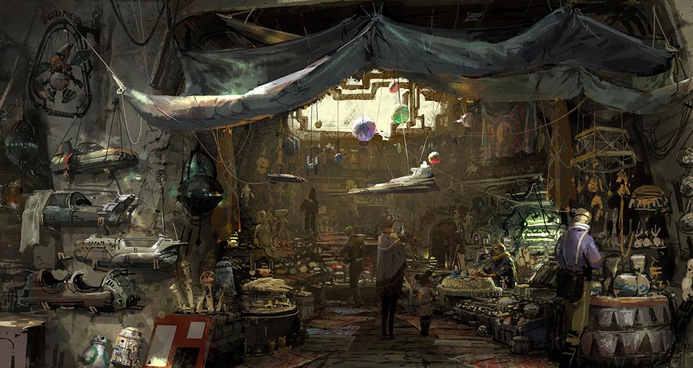 Alcuni dei negozi presenti in Star Wars: Galaxy's Edge
