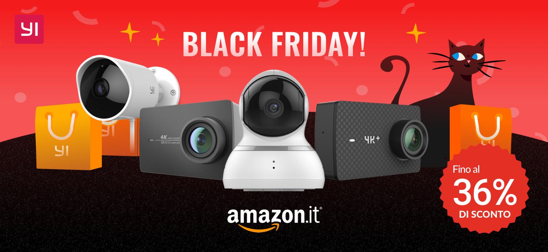 Amazon Black Friday 2018: Anteprima Offerte Yi Technology