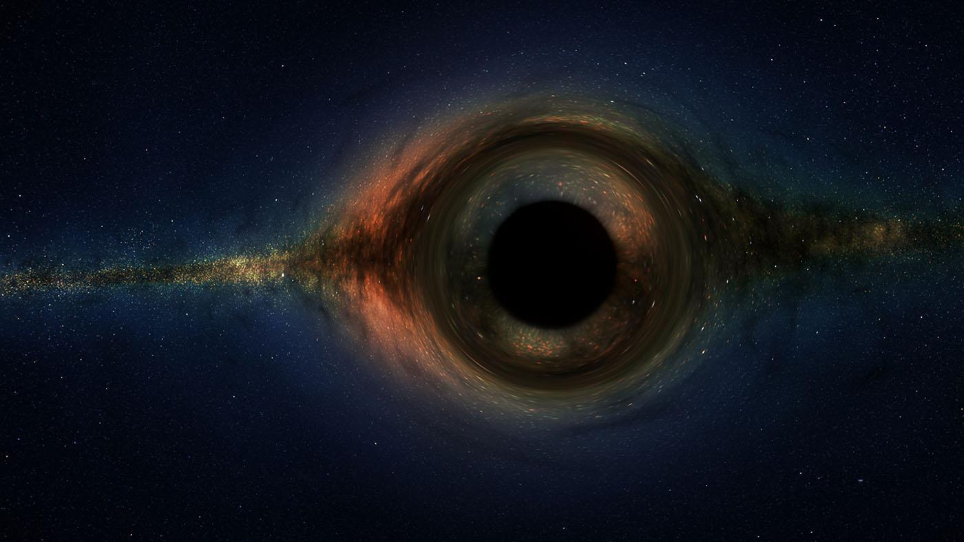 Creata la simulazione VR del passaggio vicino a un buco nero