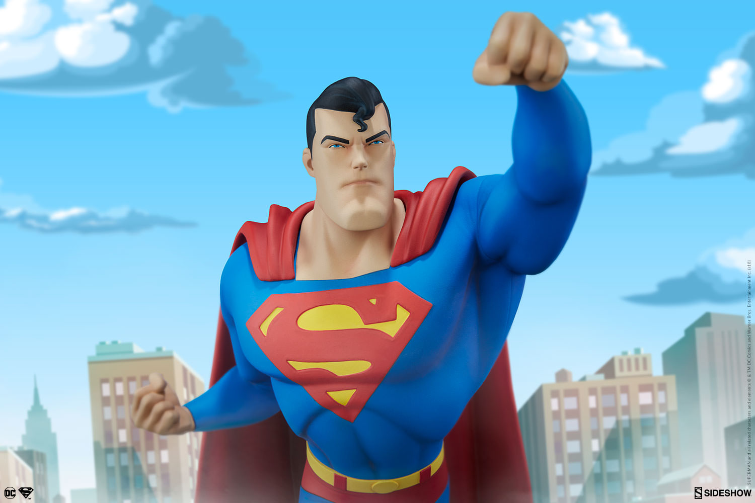 Superman statue animated series collection leganerd