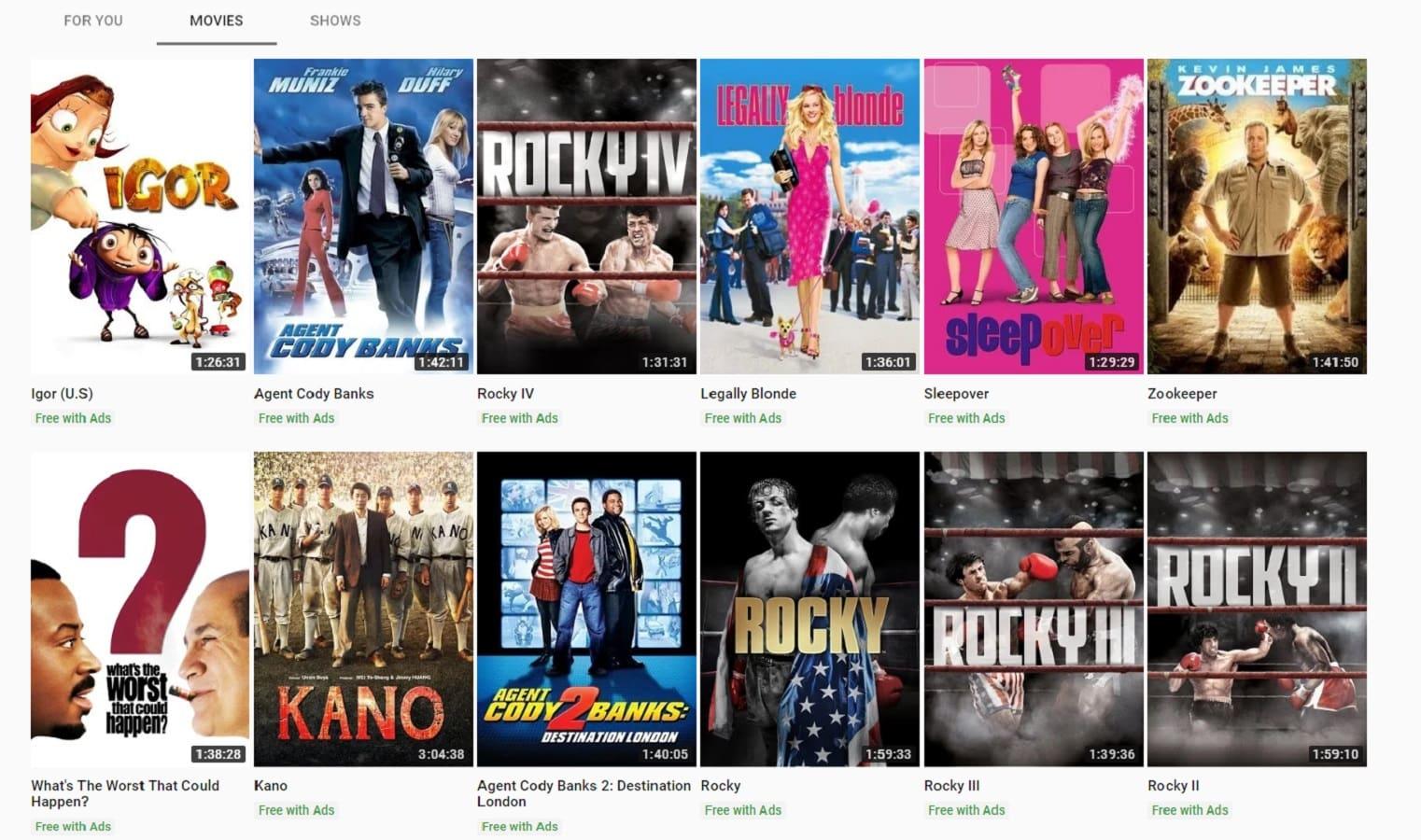 YouTube amplia l'offerta con film gratuiti intramezzati da spot pubblicitari