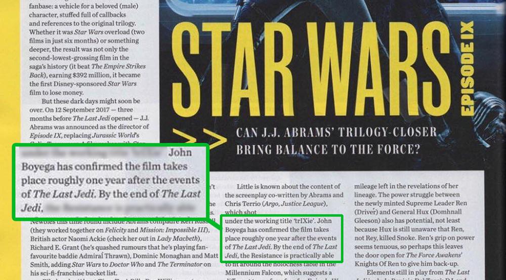 Star Wars Episode IX si svolgerà un anno dopo gli eventi di The Last Jedi
