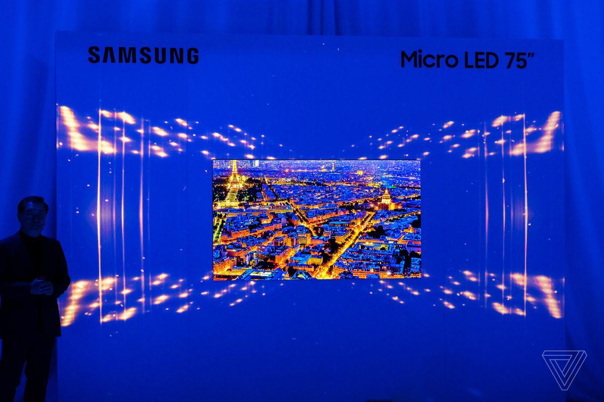 CES 2019: Samsung presenta un Televisore MicroLED da 75 pollici
