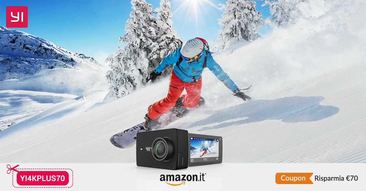 Nuove offerte Yi Technology: YI 4k Plus Action Camera e YI Smartphone Gimbal