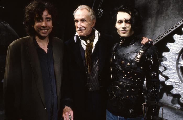 Tim Burton, Vincent Price e Johnny Depp