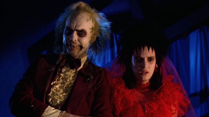 Michael Keaton e Winona Rider in Beetlejuice