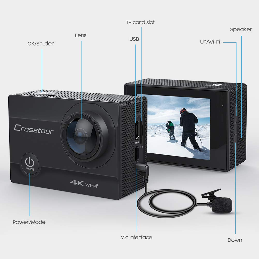Crosstour Action Cam CT8500 in offerta con codice coupon su Amazon
