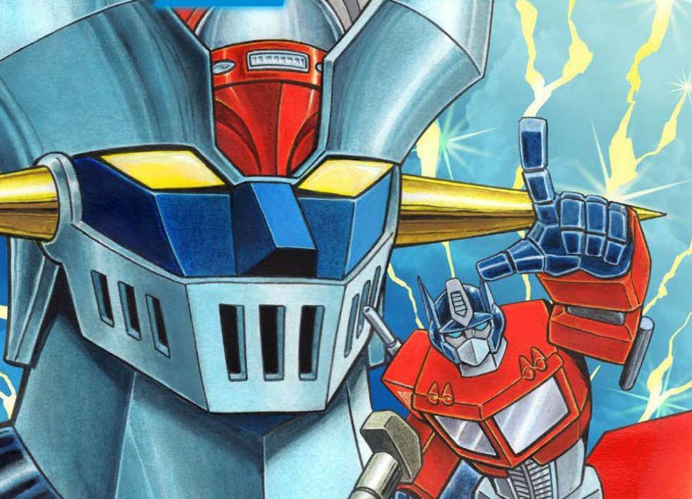 Mazinger Z vs. Transformers, le cover del manga crossover