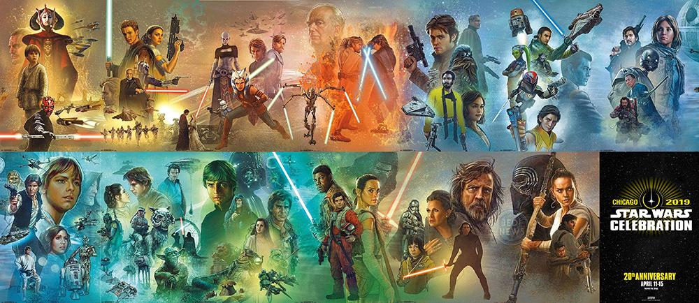 Star Wars Celebration: Il lunghissimo poster della saga non è ancora completo, o forse si?