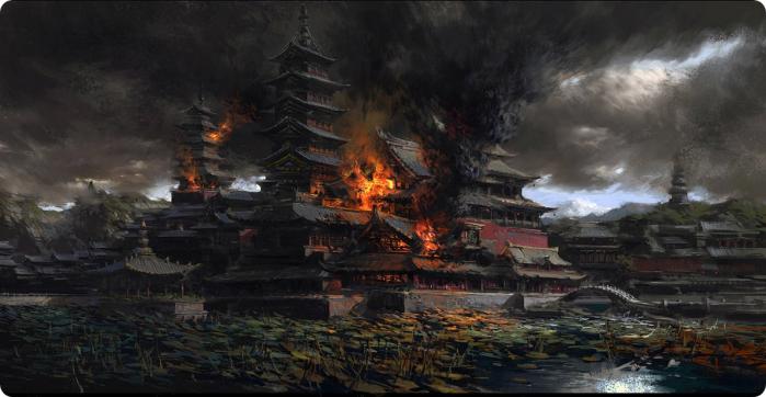 Dong Zhuo brucia Luoyang