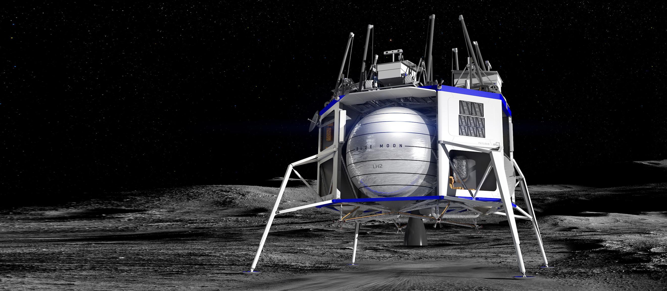 Jeff Bezos presenta Blue Moon, un lander che potrà trasportare esseri umani sulla Luna