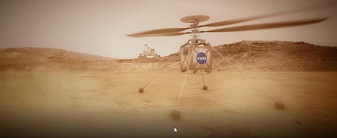 La NASA è pronta per un primo giro su Marte in elicottero