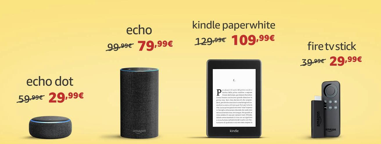 Il nuovo Kindle Paperwhite e gli altri dispositivi Amazon in sconto